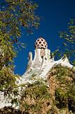 cupola at park guell in barcelona