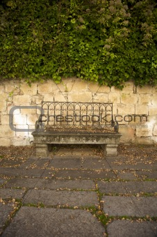 old stone bench