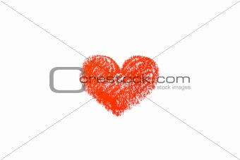 small red heart on white