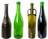 Wine bottles isolated on white