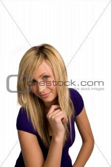 Beautiful Fashion model looking at camera