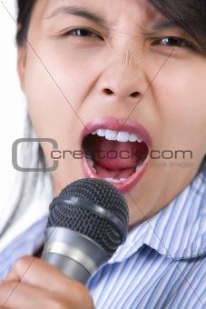 Singing loudly