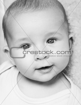 Adorable newborn portrait
