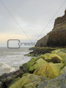 Green rocks at Whitby