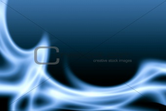 blue abstract flame background.