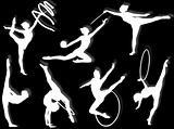 Rhythmic gymnastics exercises