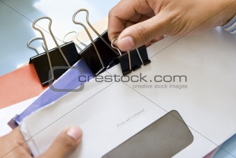 Clamping the letters