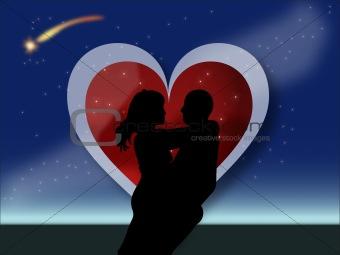valentine couple hugging