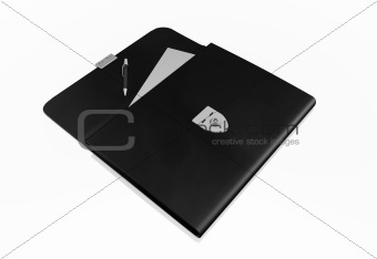 business bag on white background