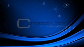 Blue Christmas stars on blue background