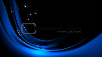 Blue Christmas stars on blue background