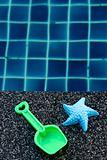 Plastic starfish and spade