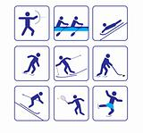 Sports stylize icons set three (vector)