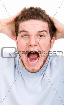 Man in a shock