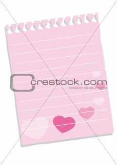 Sheet of paper with hearts for St. Valentine day