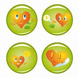 Set of four st. Valentine buttons 3