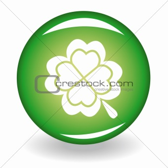Glossy button with quatrefoil