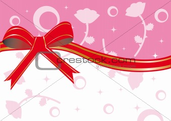 Frame with red ribbon