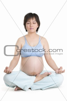 Pregnancy series - yoga with eyes close
