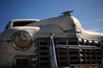 Old white Cuban car