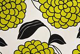 Colorful Grapes and Leaf Cotton Fabric Green
