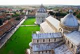 view from the top of Pisa tower