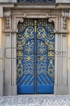 Lavishly embellished doors