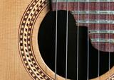 Classical Guitar sound hole and strings