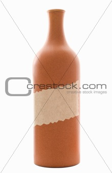 Clay wine bottle