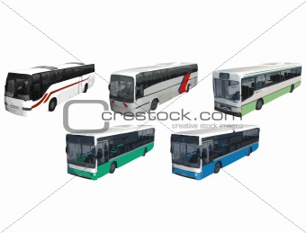Buses and Coaches - Vector Vehicles