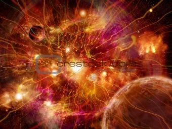 Power streams of universe