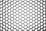 Beehive pattern in circular perspective