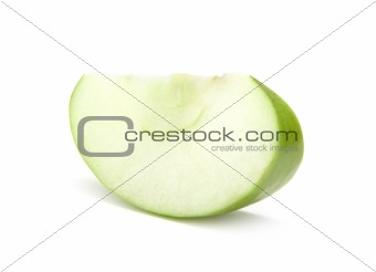 Slice of the green apple