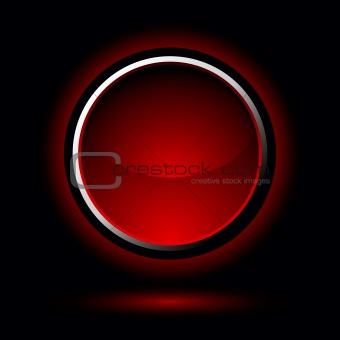 bright red button