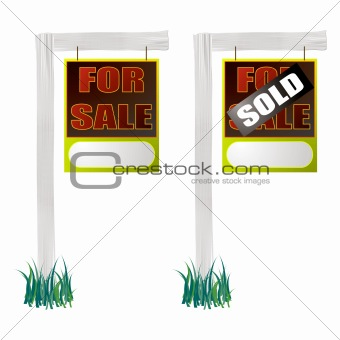 for sale sign hang