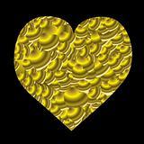 gold love heart mini
