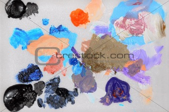 Abstract colorful splats