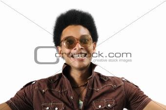 Crazy retro afro