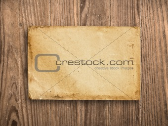 Blank vintage paper, clipping path.
