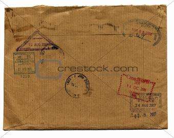 grunge envelope