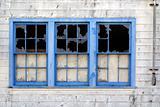 Blue window trio