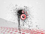 disco background with grunge element, wallpaper