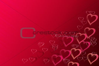 abstract valentine background with space for text