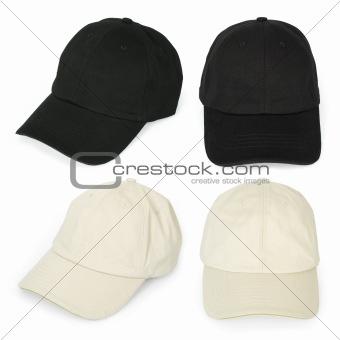 Blank baseball caps