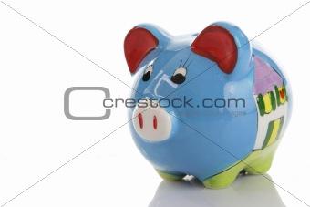 Blue (colorfull) Piggy Bank (moneybox)