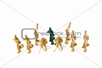 To Be Different Concept - Plastic Army Men
