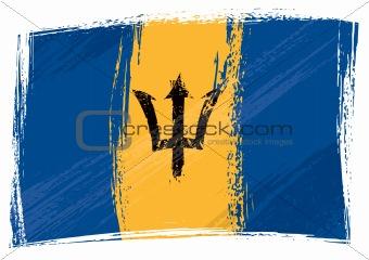 Grunge Barbados flag