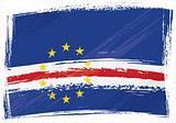 Grunge Cape Verde flag