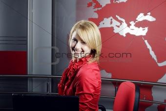 Attractive television presenter