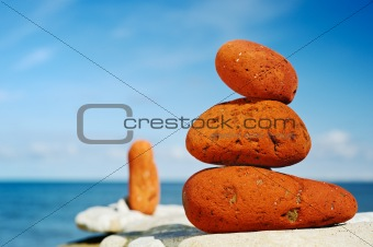 Three red stones